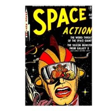 Vintage Space Action Comi Postcards (Package of 8)