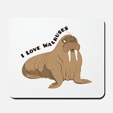 Love Walruses Mousepad