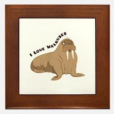 Love Walruses Framed Tile