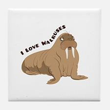 Love Walruses Tile Coaster