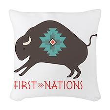 First Nations Woven Throw Pillow