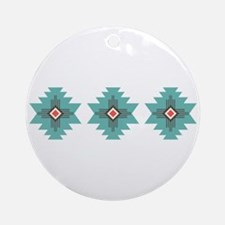 Southwest Native Border Ornament (Round)