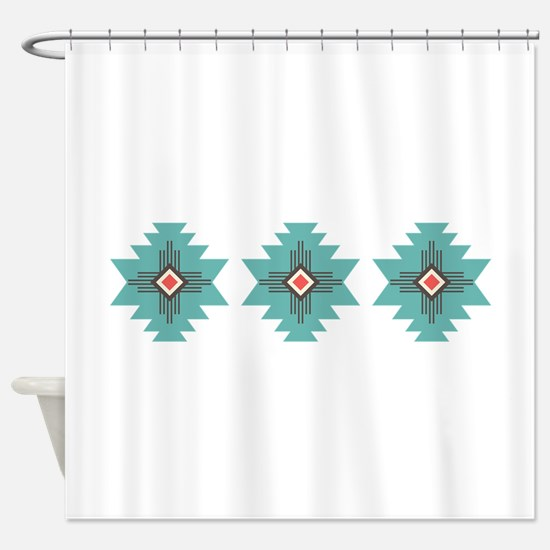 Southwest Native Border Shower Curtain