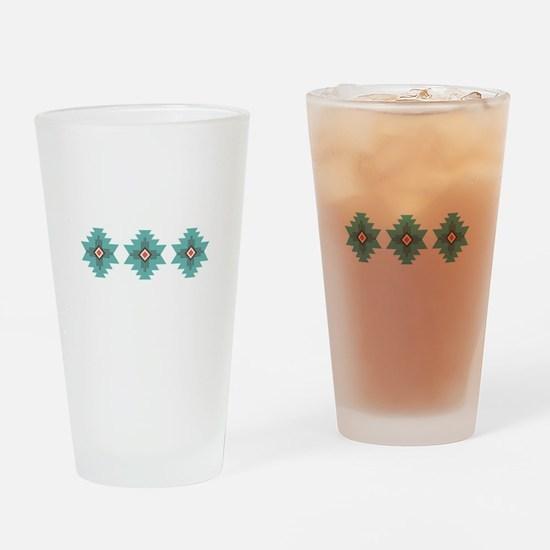 Southwest Native Border Drinking Glass