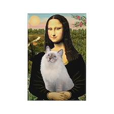 Mona & her Ragdoll Rectangle Magnet