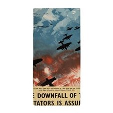WW2 Propaganda Poster - Downfall of Di Beach Towel