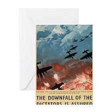 WW2 Propaganda Poster - Downfall of  Greeting Card