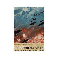 WW2 Propaganda Poster - Downfall  Rectangle Magnet
