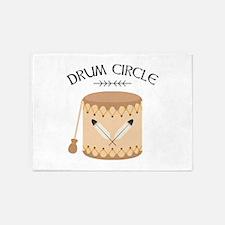 Native American Tribal Drum Circle 5'x7'Area Rug