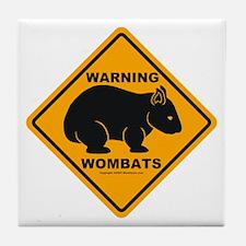 Wombat Warning Tile Coaster
