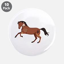 "Native American War Horse 3.5"" Button (10 pack)"