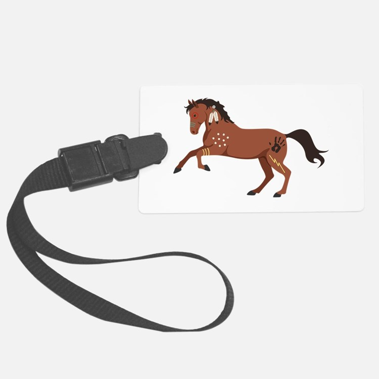 Native American War Horse Luggage Tag