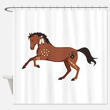 Native American War Horse Shower Curtain