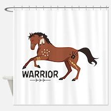 Native American War Horse Warrior Shower Curtain