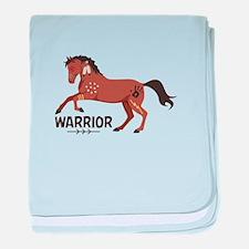 Native American War Horse Warrior baby blanket