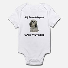 Personalized Shih Tzu Infant Bodysuit