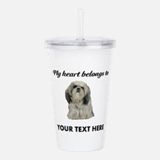 Personalized Shih Tzu Acrylic Double-wall Tumbler