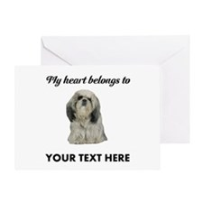 Personalized Shih Tzu Greeting Card
