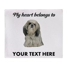 Personalized Shih Tzu Throw Blanket