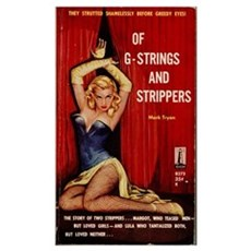 Vintage Pulp Fiction Cover - G-Strings & Strippers Poster