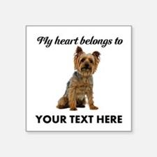 "Silky Terrier Square Sticker 3"" x 3"""