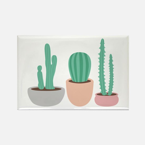 Potted Cactus Desert Plants Magnets
