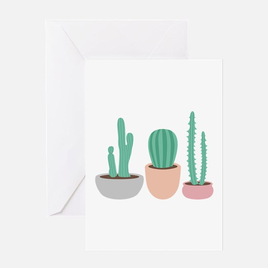 Potted Cactus Desert Plants Greeting Cards