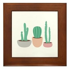 Potted Cactus Desert Plants Framed Tile