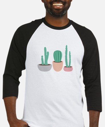 Potted Cactus Desert Plants Baseball Jersey