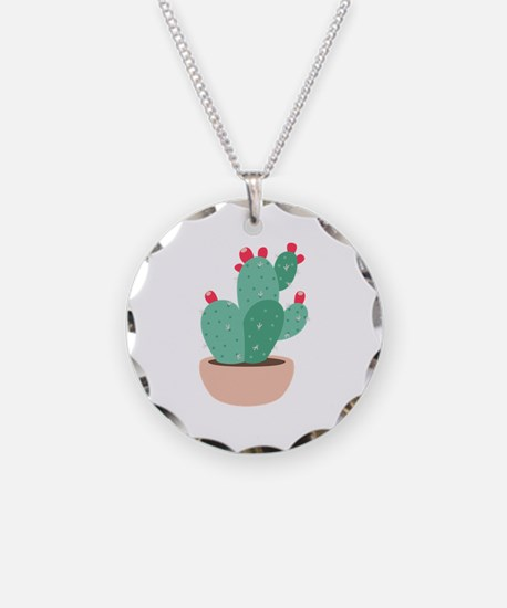 Prickly Pear Cactus Plant Necklace