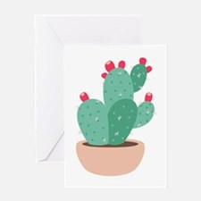 Prickly Pear Cactus Plant Greeting Cards