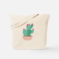 Prickly Pear Cactus Plant Tote Bag