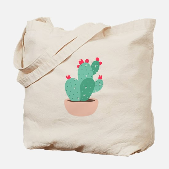 Prickly Pear Cactus Plant Tote Bag