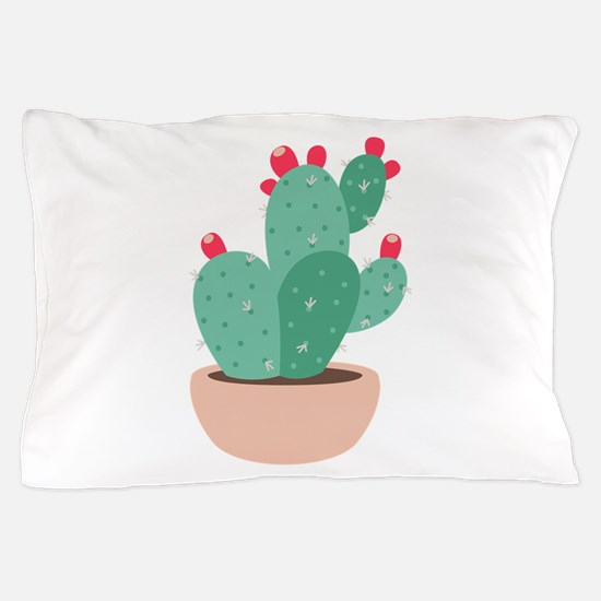 Prickly Pear Cactus Plant Pillow Case