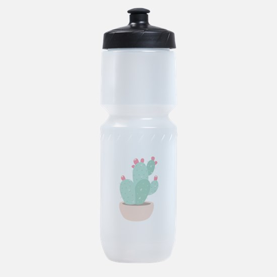 Prickly Pear Cactus Plant Sports Bottle