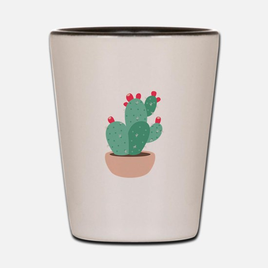 Prickly Pear Cactus Plant Shot Glass