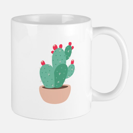 Prickly Pear Cactus Plant Mugs