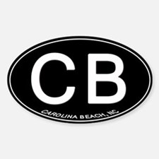 Carolina Beach NC Oval CB Decal