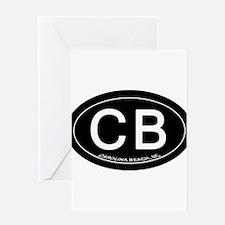 Carolina Beach NC Oval CB Greeting Cards
