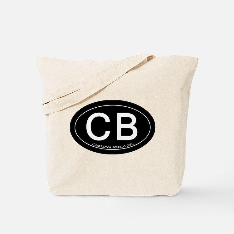 Carolina Beach NC Oval CB Tote Bag