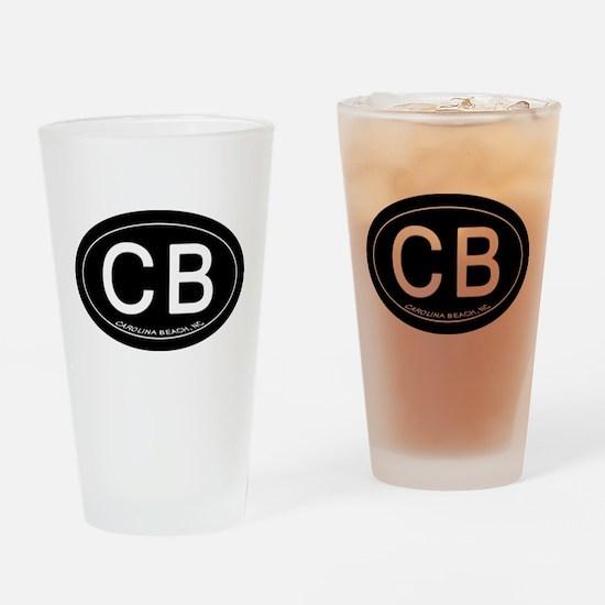 Carolina Beach NC Oval CB Drinking Glass