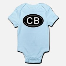 Carolina Beach NC Oval CB Body Suit