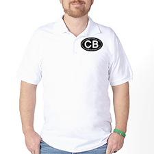 Carolina Beach NC Oval CB T-Shirt