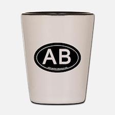 Atlantic Beach NC Oval AB Shot Glass