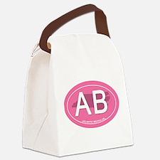 Atlantic Beach NC Oval AB Canvas Lunch Bag