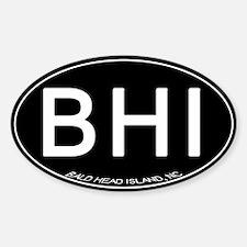 Bald Head Island NC Oval BHI Decal