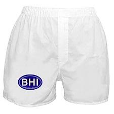 Bald Head Island NC Oval BHI Boxer Shorts