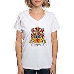 Bonnier Family Crest Women's V-Neck T-Shirt