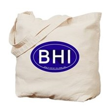 Bald Head Island NC Oval BHI Tote Bag