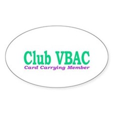 VBAC Member Oval Decal